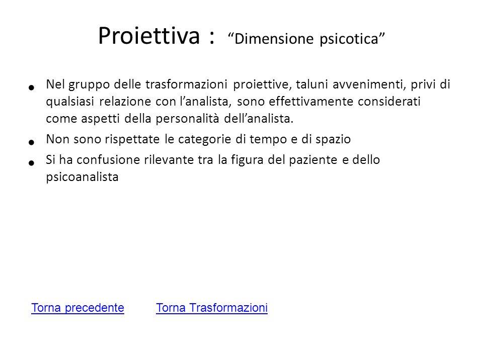 Proiettiva : Dimensione psicotica
