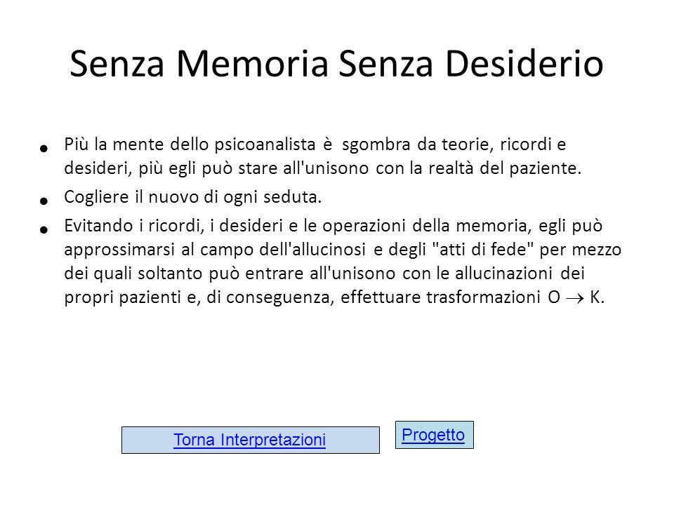 Senza Memoria Senza Desiderio
