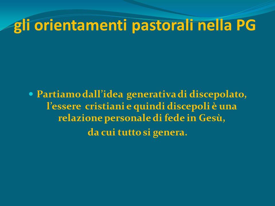 gli orientamenti pastorali nella PG