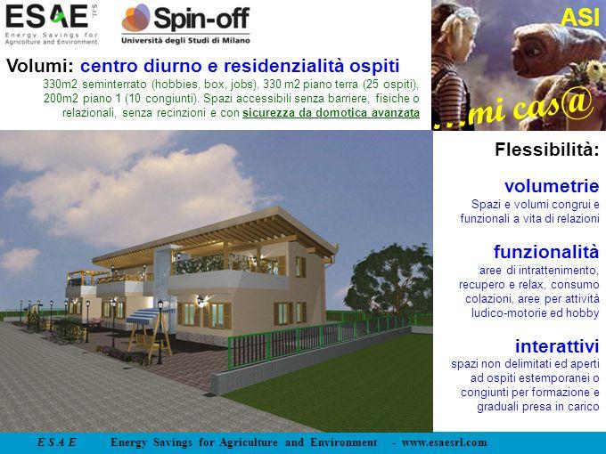 Volumi: centro diurno e residenzialità ospiti
