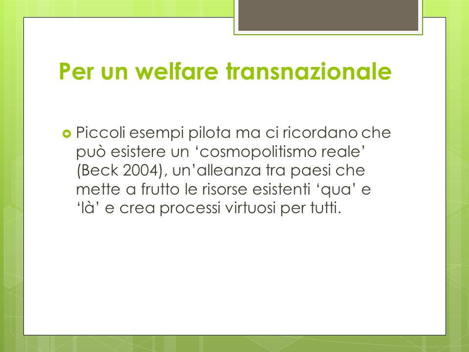 Per un welfare transnazionale