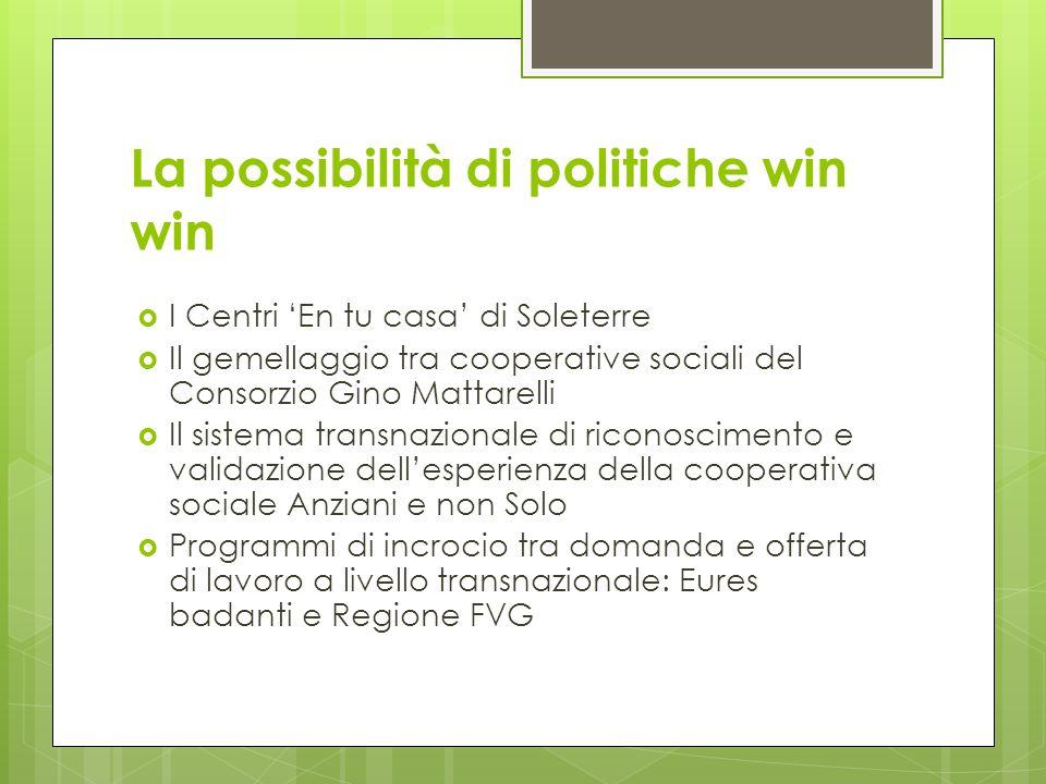 La possibilità di politiche win win