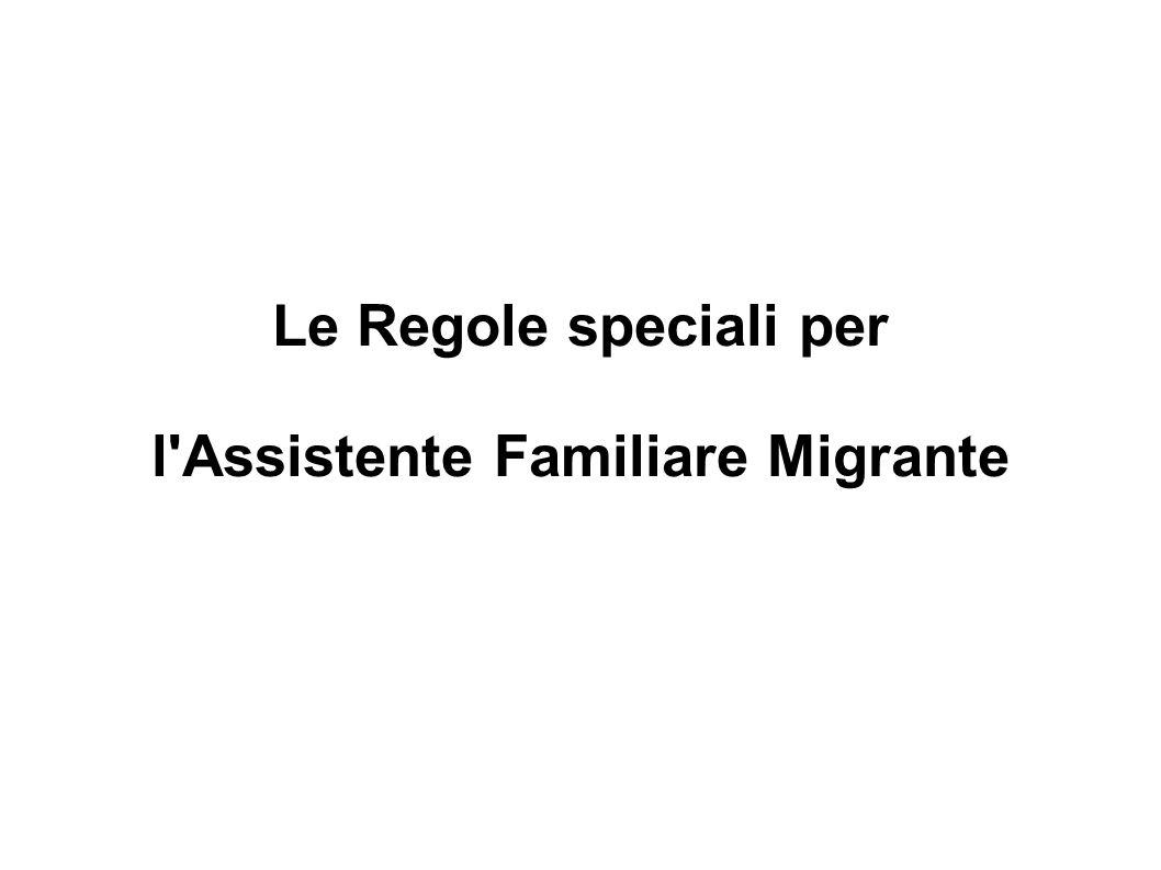 l Assistente Familiare Migrante