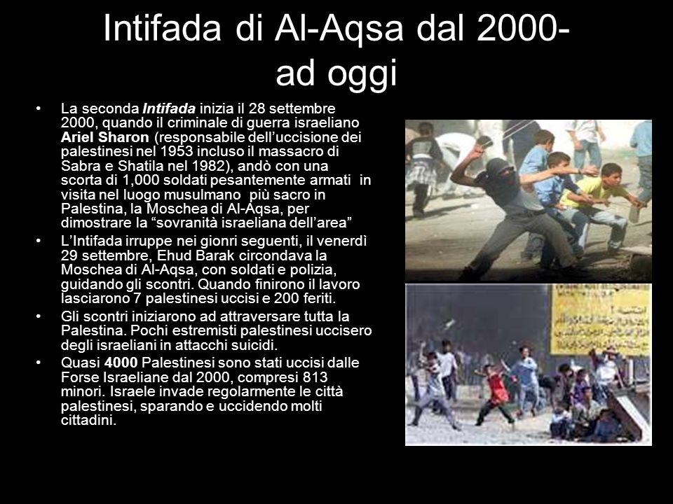 Intifada di Al-Aqsa dal 2000- ad oggi