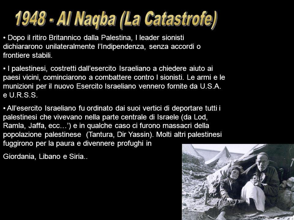1948 - Al Naqba (La Catastrofe)