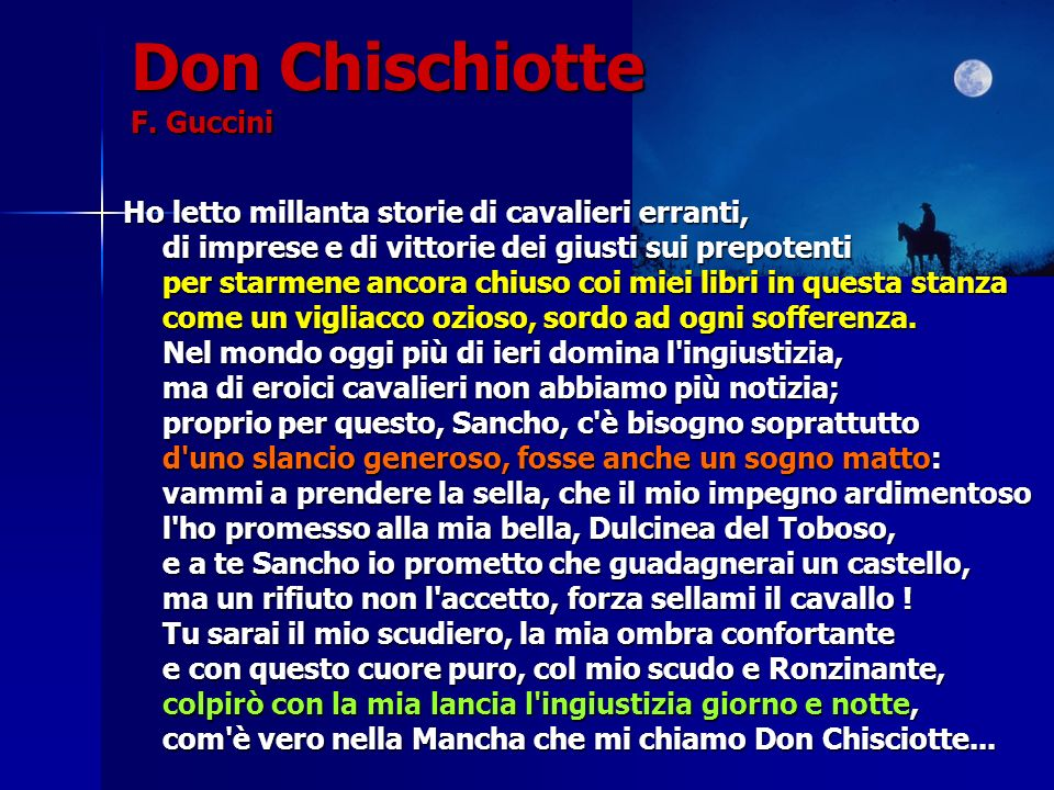 Don Chischiotte F. Guccini