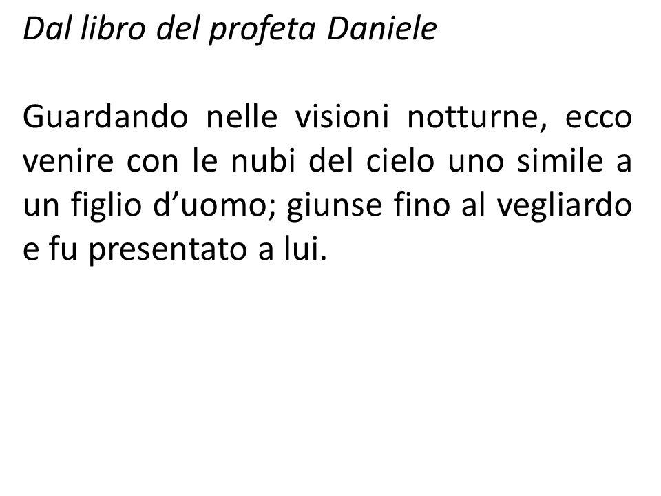 Dal libro del profeta Daniele
