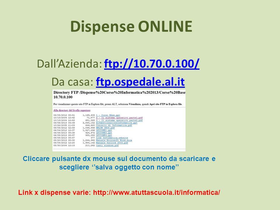 Link x dispense varie: http://www.atuttascuola.it/informatica/