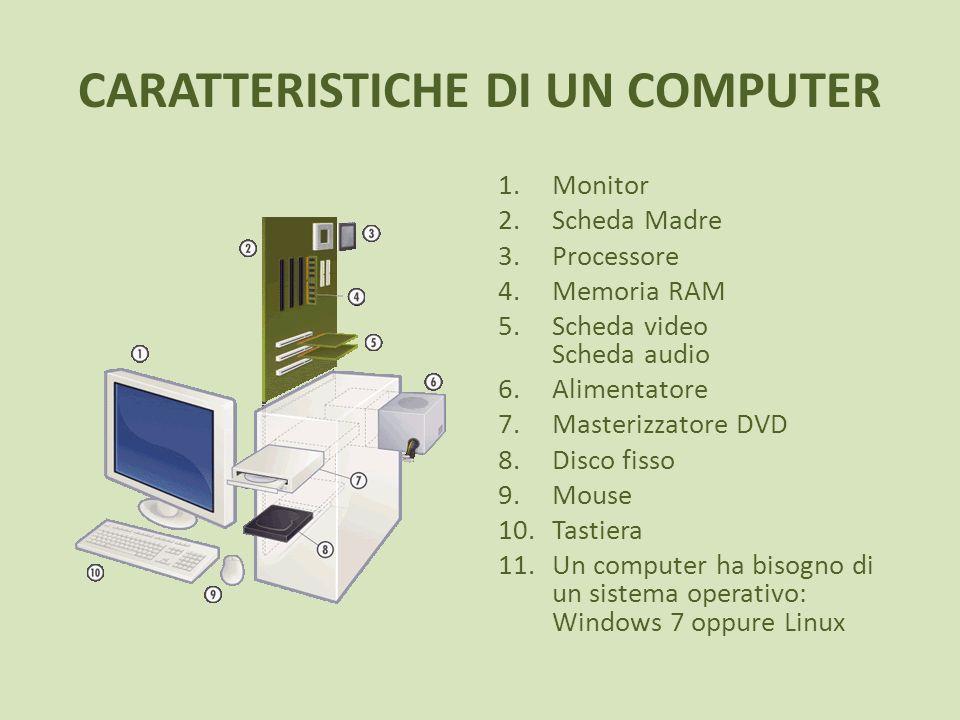 CARATTERISTICHE DI UN COMPUTER