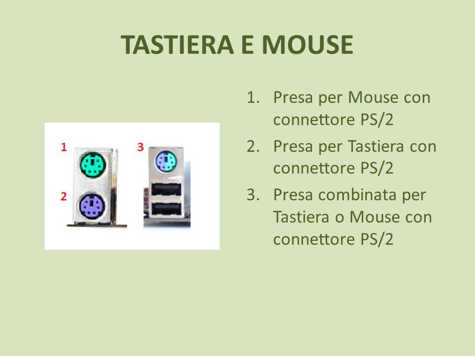 TASTIERA E MOUSE Presa per Mouse con connettore PS/2