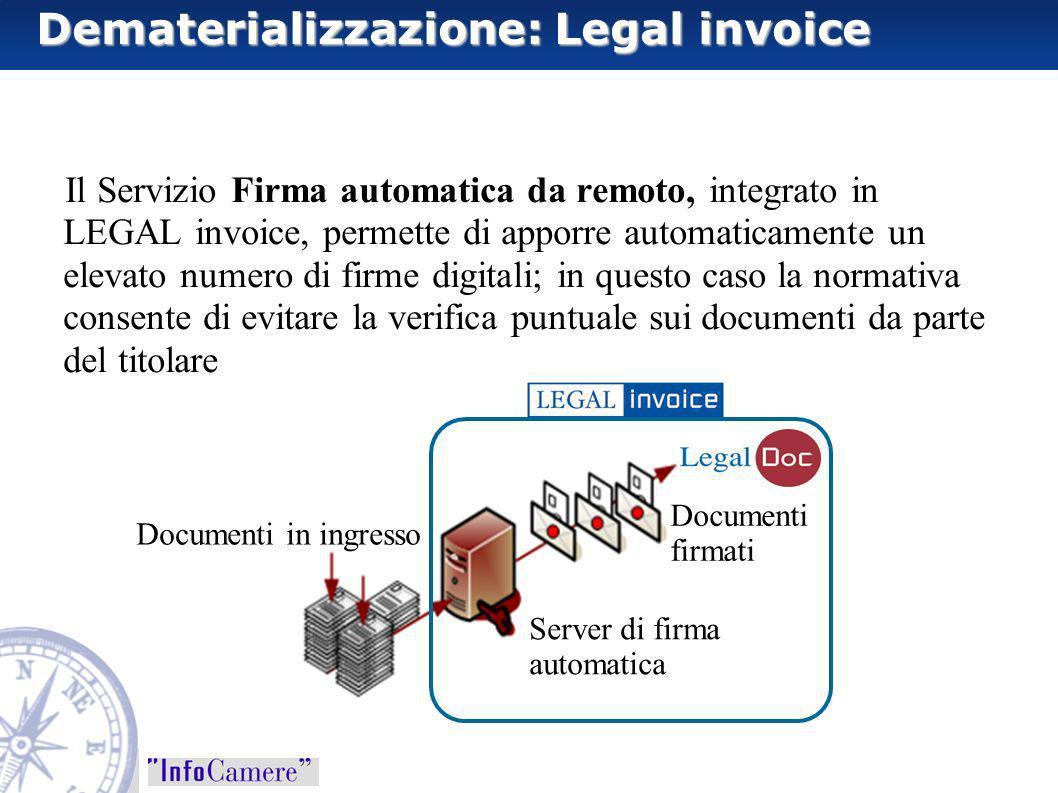 Dematerializzazione: Legal invoice