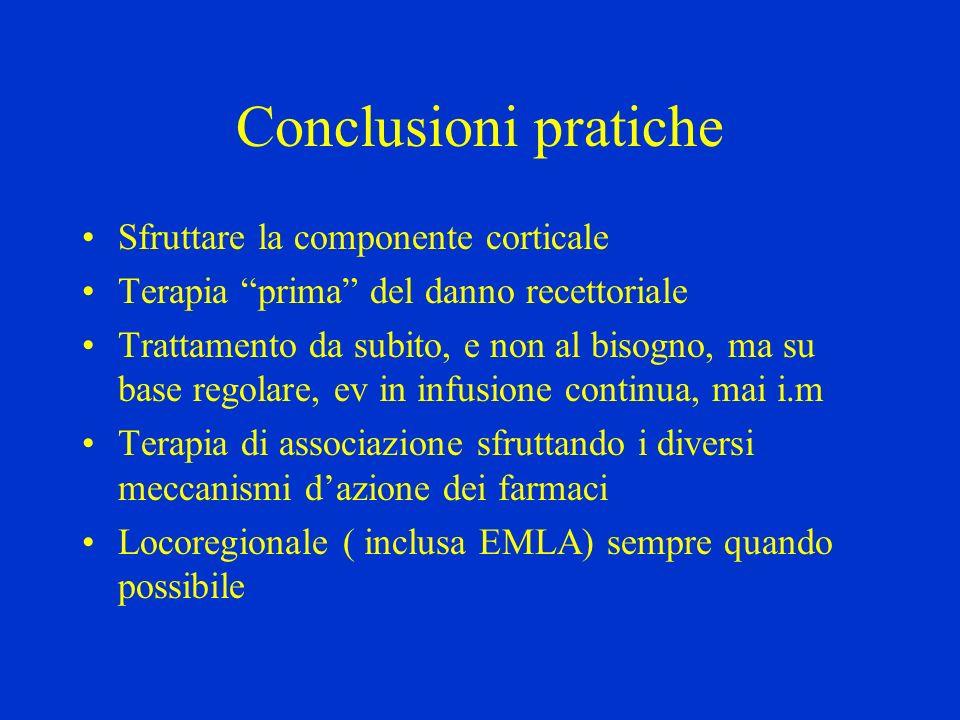 Conclusioni pratiche Sfruttare la componente corticale