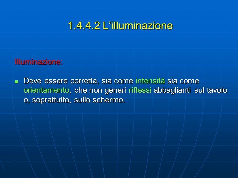 1.4.4.2 L'illuminazione Illuminazione:
