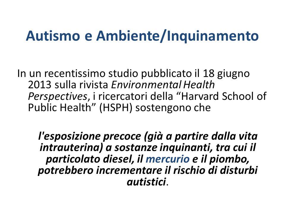 Autismo e Ambiente/Inquinamento