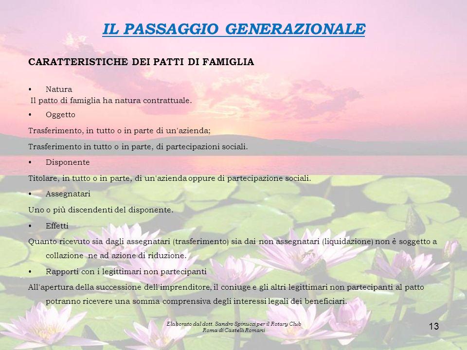 IL PASSAGGIO GENERAZIONALE