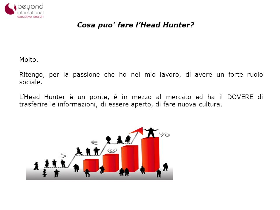 Cosa puo' fare l'Head Hunter
