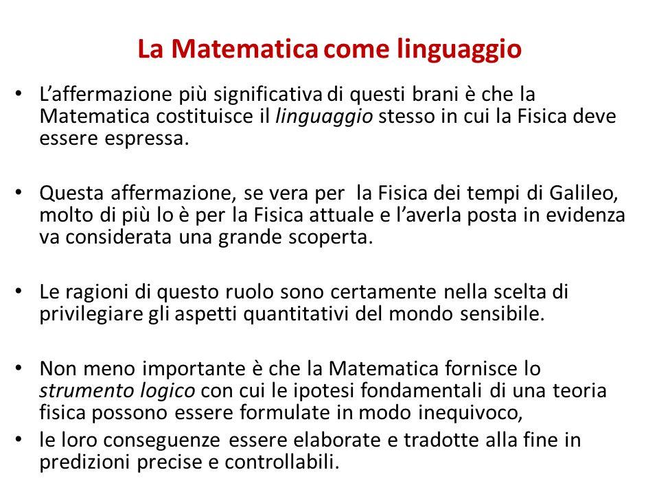 La Matematica come linguaggio