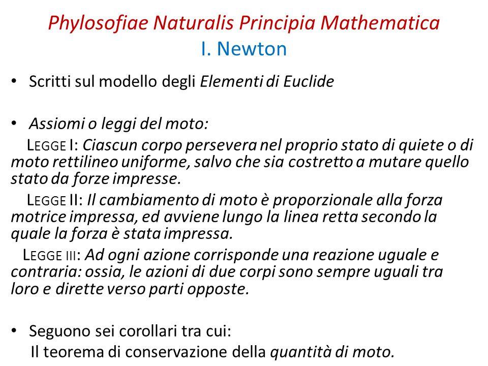 Phylosofiae Naturalis Principia Mathematica I. Newton