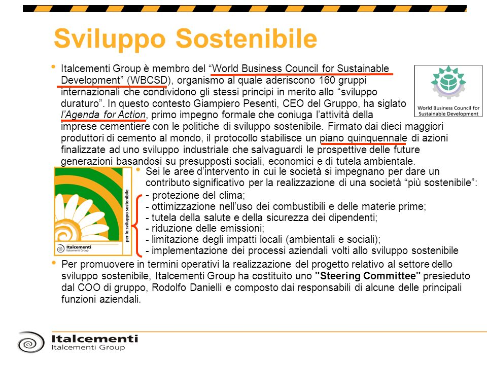 Sviluppo Sostenibile - protezione del clima;