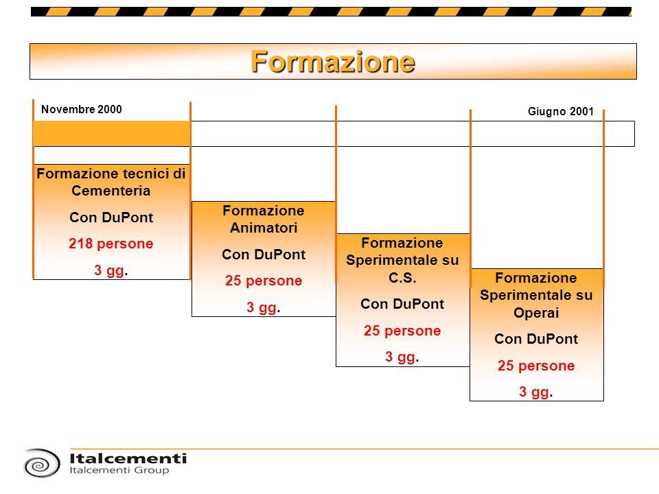 Formazione Formazione tecnici di Cementeria Con DuPont 218 persone