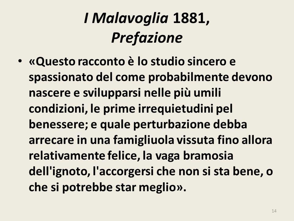 I Malavoglia 1881, Prefazione