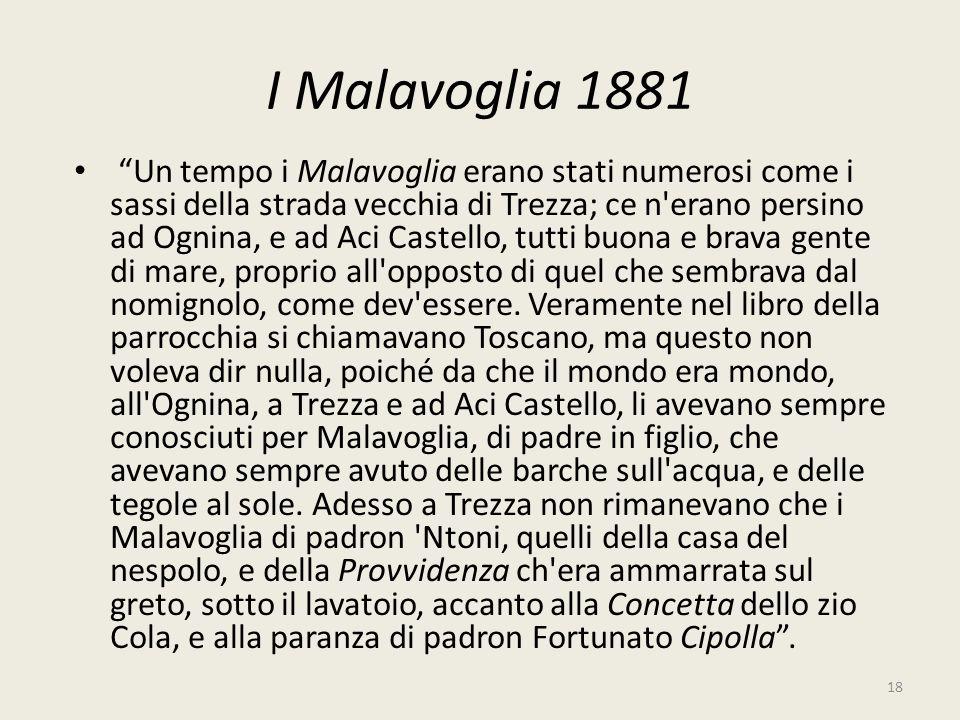 I Malavoglia 1881