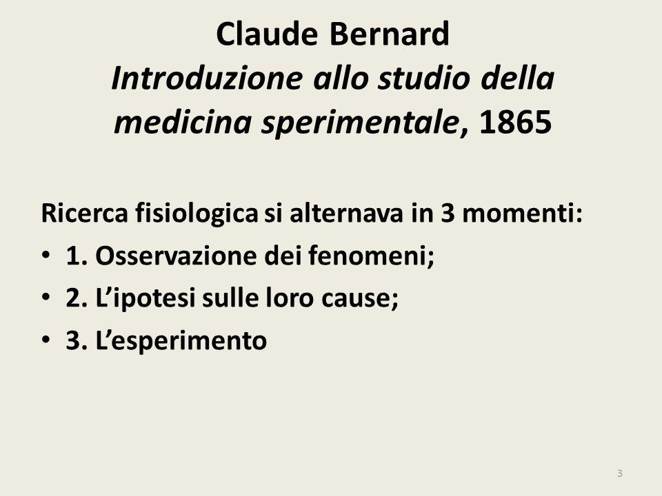 Claude Bernard Introduzione allo studio della medicina sperimentale, 1865