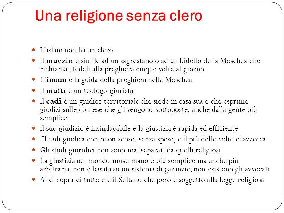 Una religione senza clero