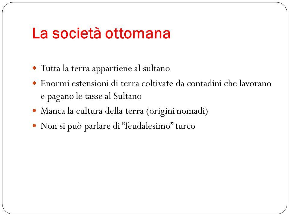 La società ottomana Tutta la terra appartiene al sultano