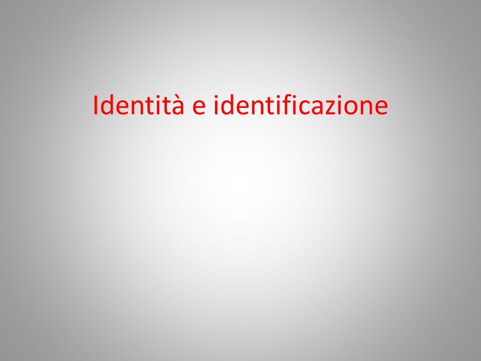 Identità e identificazione