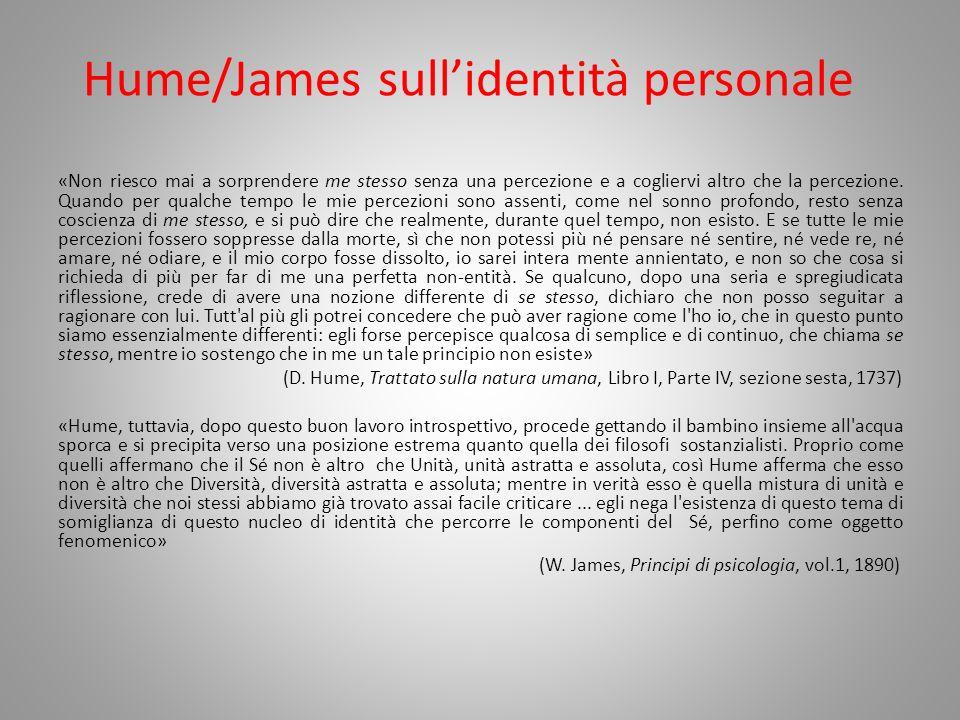 Hume/James sull'identità personale