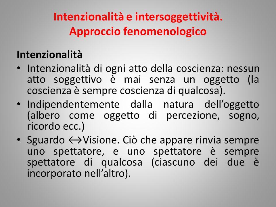 Intenzionalità e intersoggettività. Approccio fenomenologico
