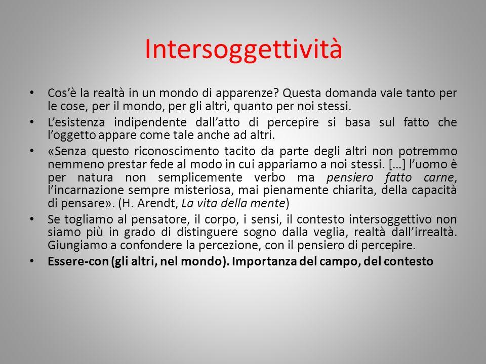 Intersoggettività
