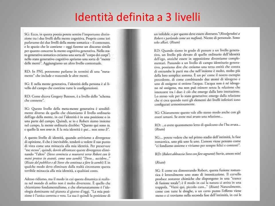 Identità definita a 3 livelli