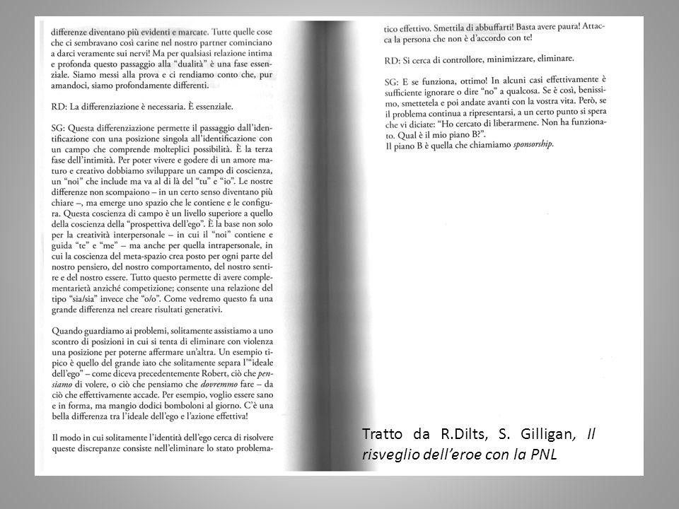 Tratto da R.Dilts, S. Gilligan, Il risveglio dell'eroe con la PNL