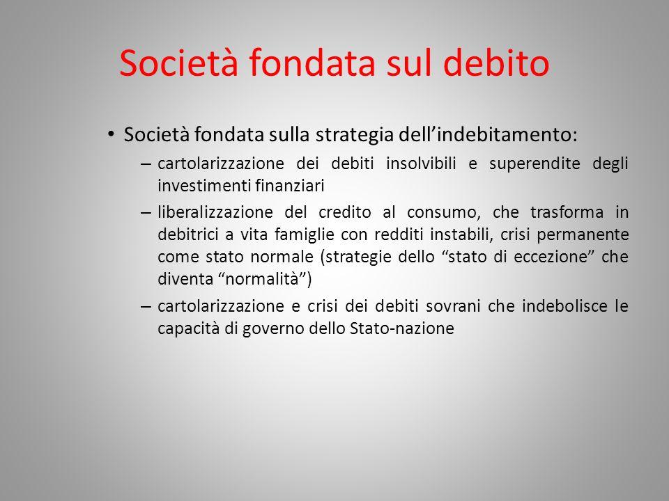 Società fondata sul debito