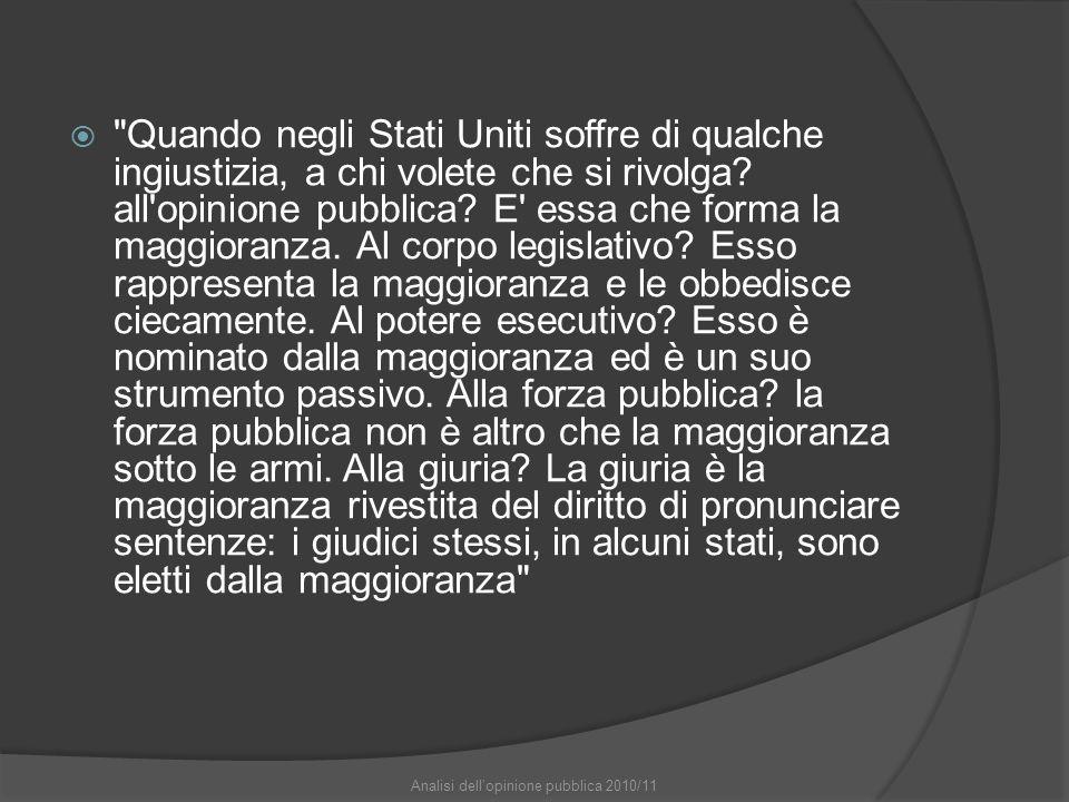 Analisi dell'opinione pubblica 2010/11