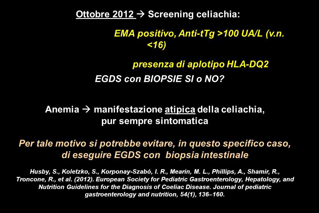Anemia  manifestazione atipica della celiachia,