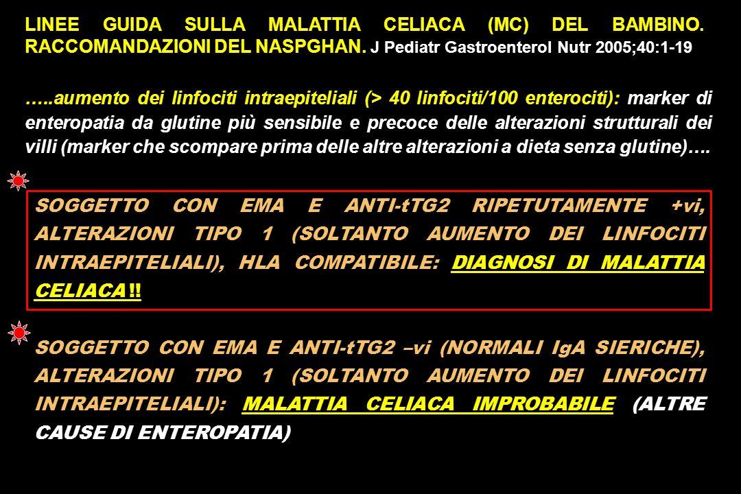 LINEE GUIDA SULLA MALATTIA CELIACA (MC) DEL BAMBINO