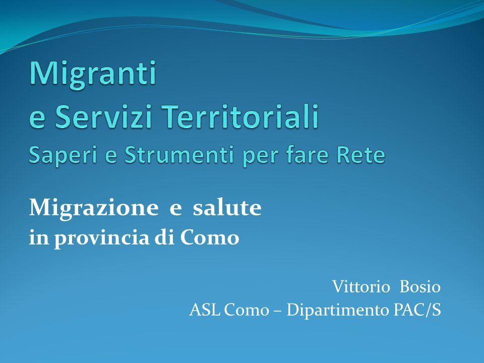 Migranti e Servizi Territoriali Saperi e Strumenti per fare Rete