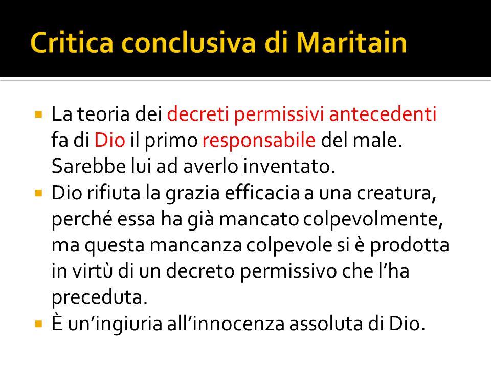 Critica conclusiva di Maritain