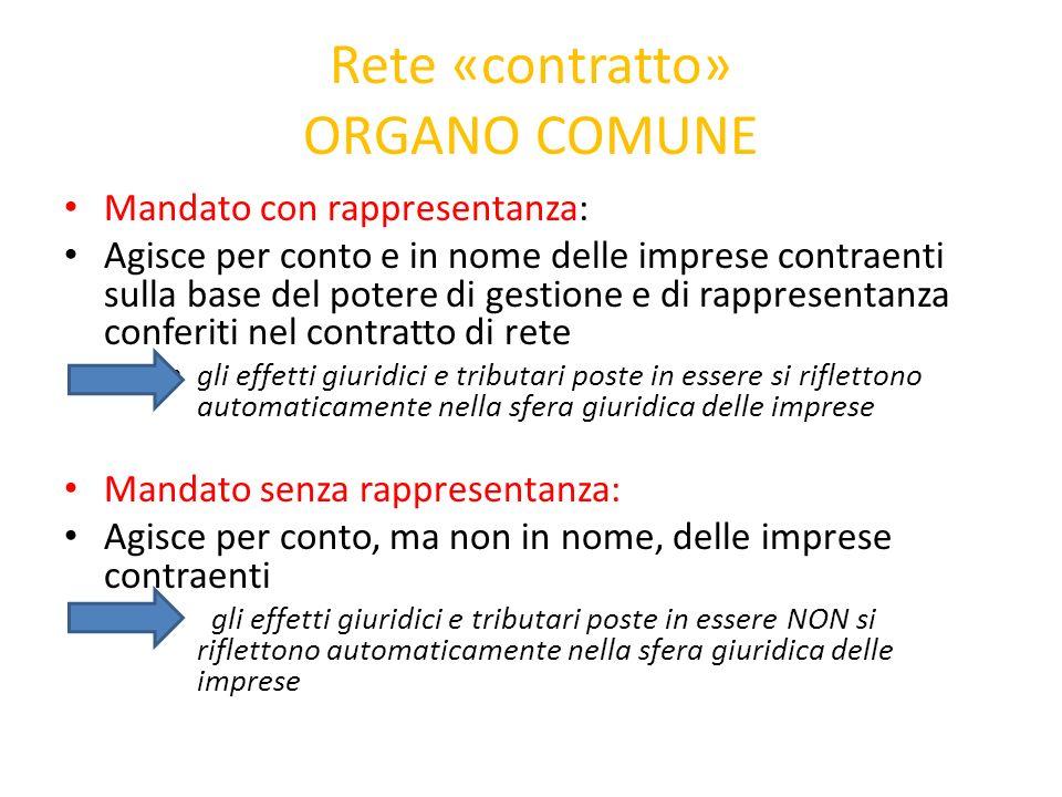 Rete «contratto» ORGANO COMUNE