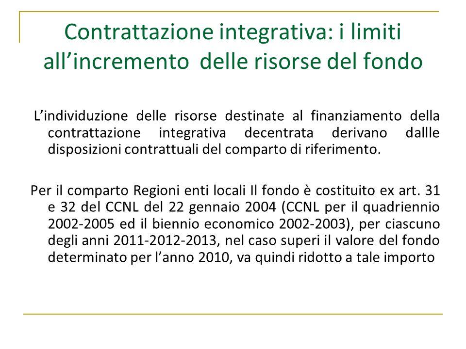 Contrattazione integrativa: i limiti all'incremento delle risorse del fondo