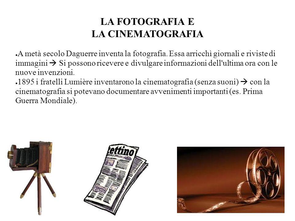 LA FOTOGRAFIA E LA CINEMATOGRAFIA