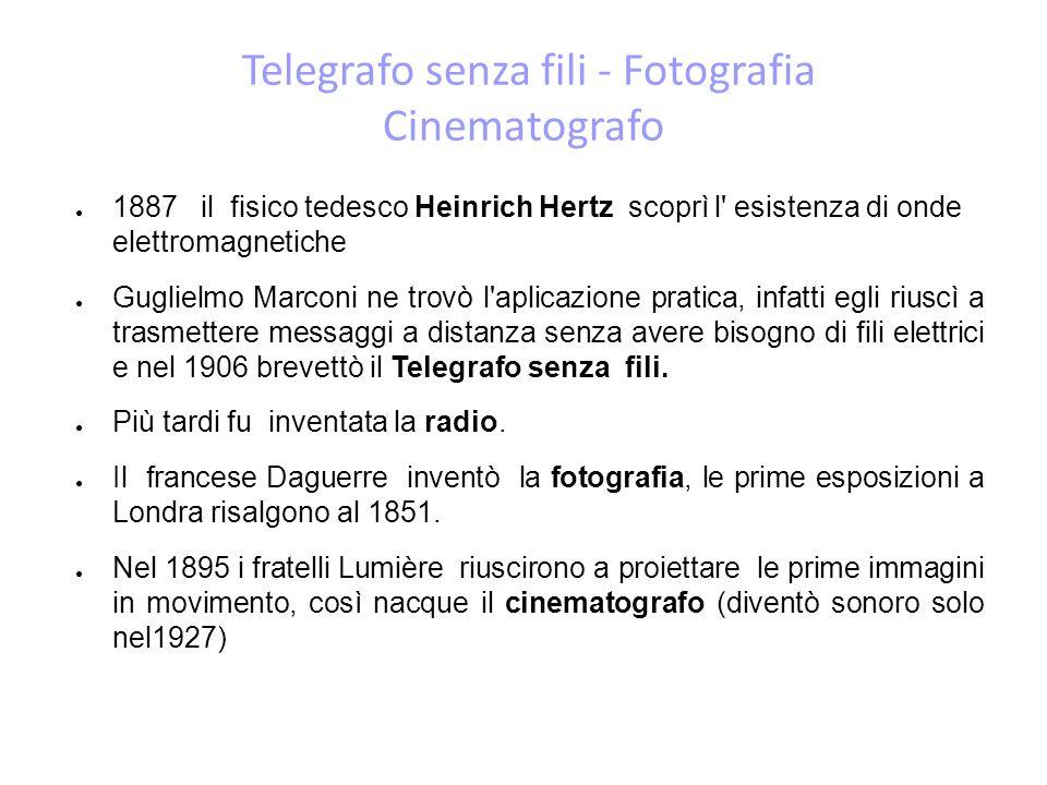 Telegrafo senza fili - Fotografia Cinematografo