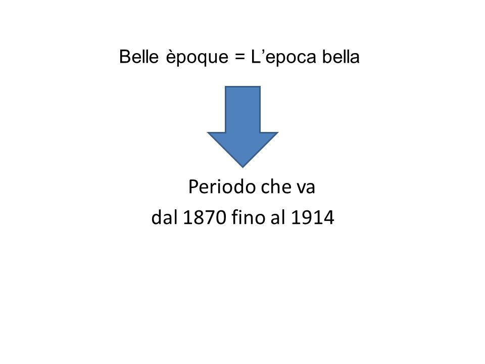 Belle èpoque = L'epoca bella