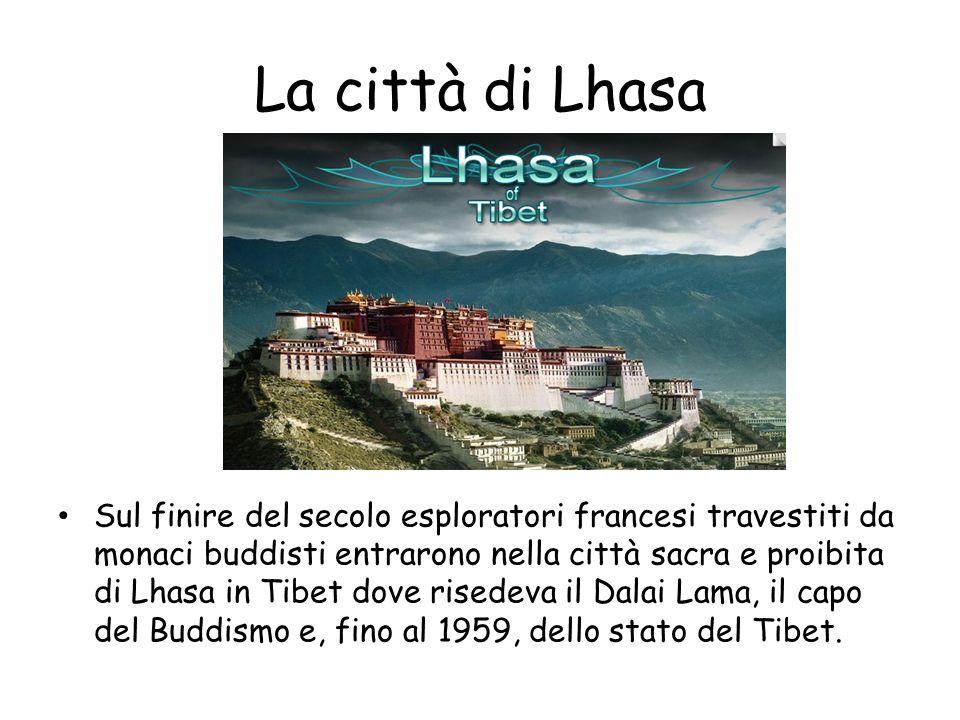 La città di Lhasa
