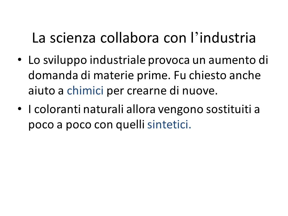 La scienza collabora con l'industria