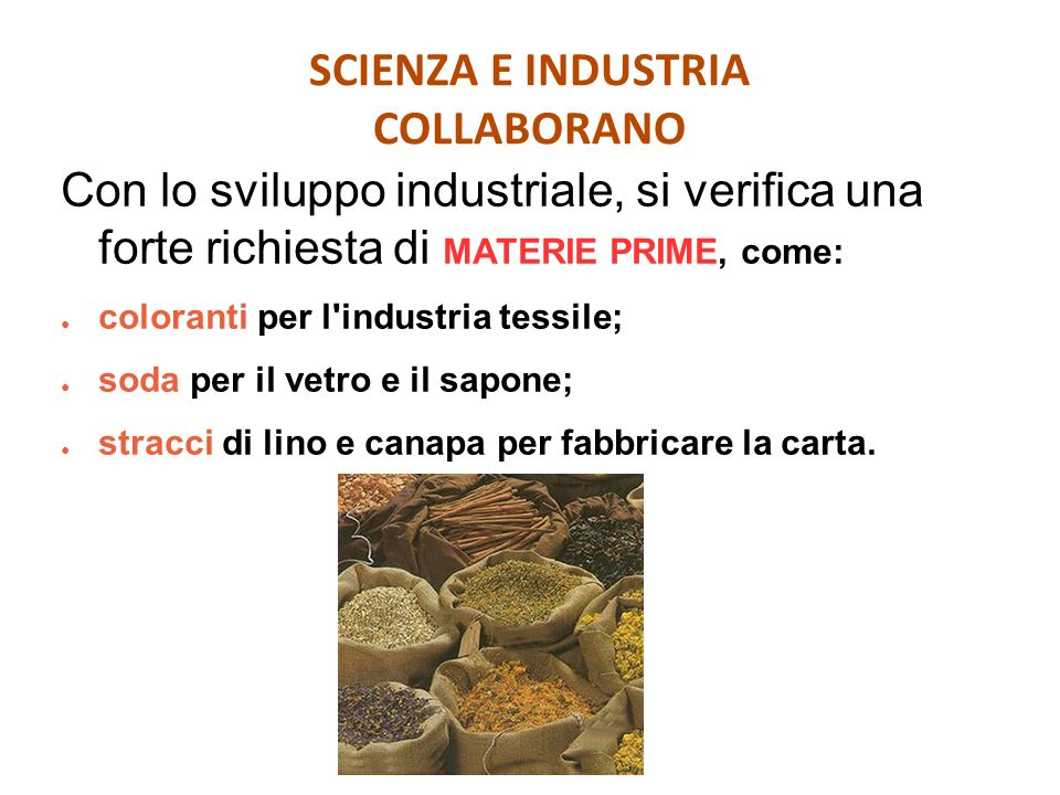 SCIENZA E INDUSTRIA COLLABORANO
