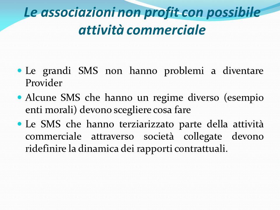 Le associazioni non profit con possibile attività commerciale
